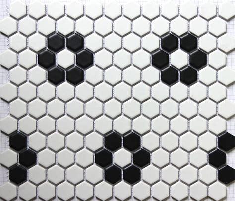 mosaico bagno economico economico sicis nero bianco esagonale ceramica mosaico