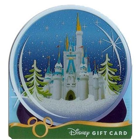 Gift Card Castle - your wdw store disney collectible gift card holiday ice castle snow globe