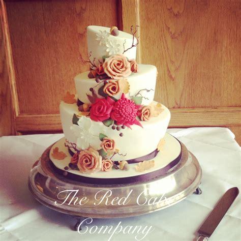 Wedding Cake Autumn by Autumn Theme Wedding Cake