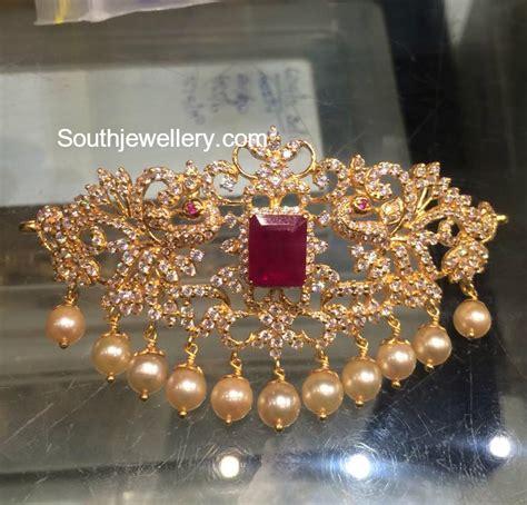 Bajuband Choker cz peacock choker bajuband jewellery designs