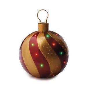 red gold fiber optic ornament frontgate outdoor