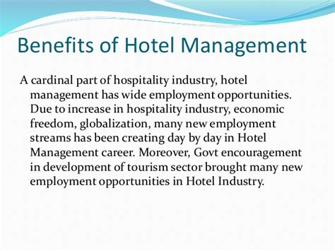 Hospitality Management 4 hospitality and tourism management india