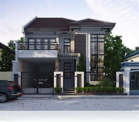 modern terrace house design modern two storey and terrace