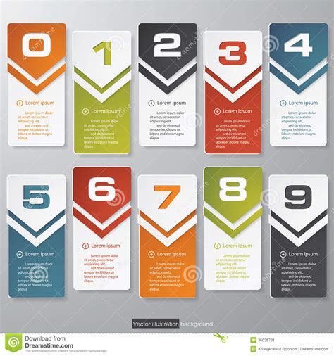 layout and graphic design design clean number banners template stock image image