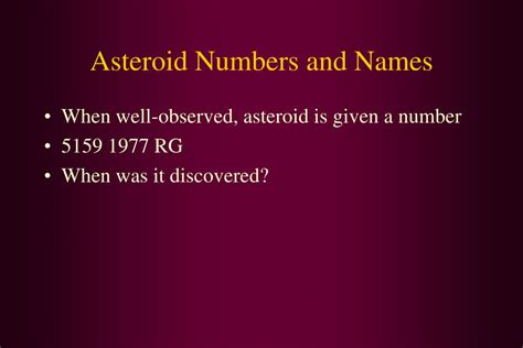 asteroid number ppt astronomy geology 330 seminar on asteroids tuesdays