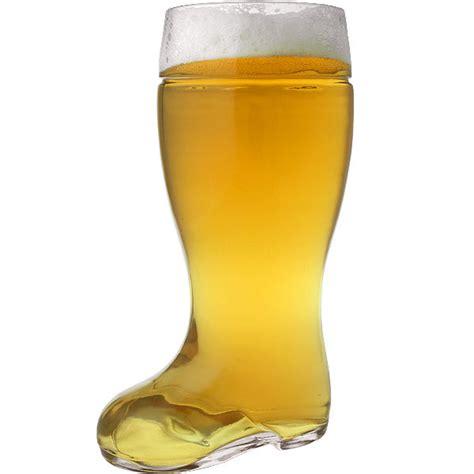 oktoberfest style glass boot stein 2 liter