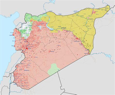 syria on map syrian civil war