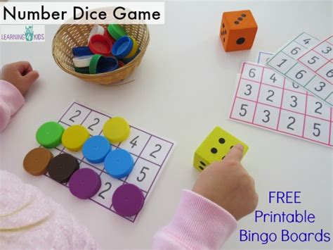 printable dice set subitising printable dice game learning 4 kids