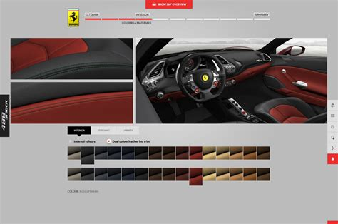 Ferrari Configurator by Build The Ferrari 488 Spider Of Your Dreams With This