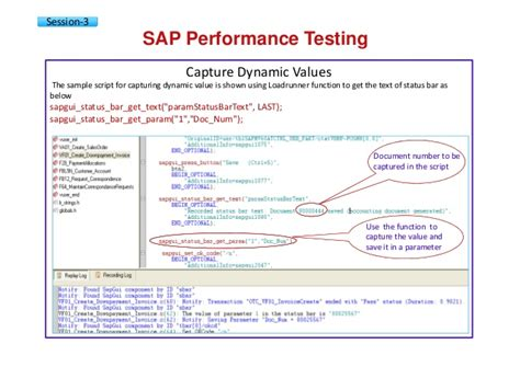 performance testing template sap performance testing engineering courseware v01