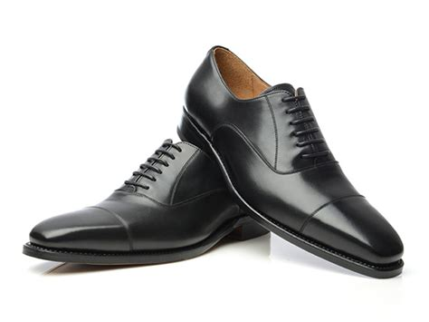 Schuhe Chagner Satin by Shoepassion Goodyear Welted Cap Toe Oxford In Black