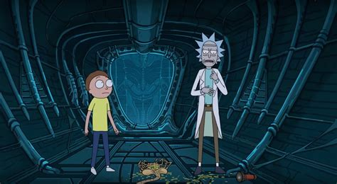 rick  morty    defeat facehuggers