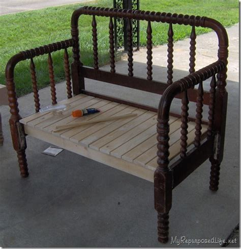 how to make an headboard into a cool bench diy for