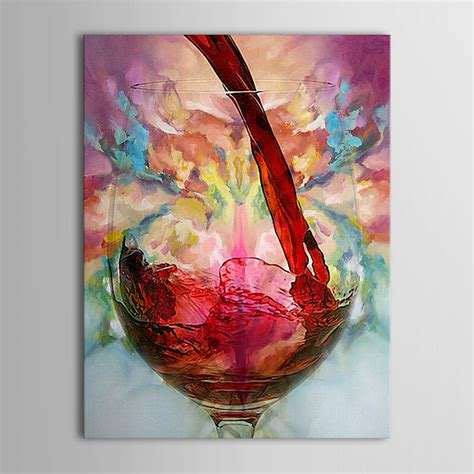 Sale Paint painted wine glass cup bottle canvas painting still 24 36 ebay