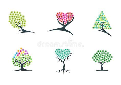 fiore simbolo di speranza albero immaginazione logo sogno pianta icona verde