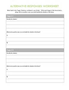 anger management group therapy handouts and worksheets