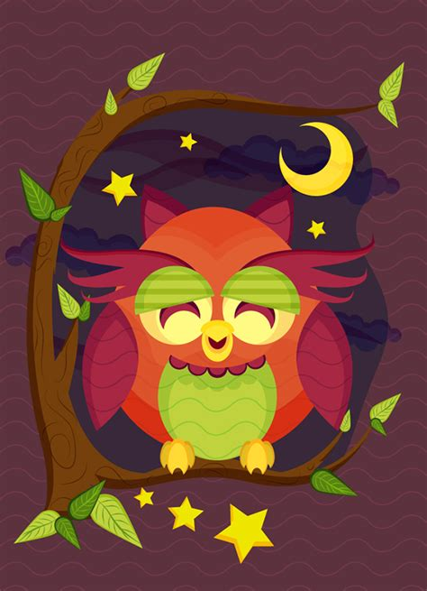 tutorial illustrator owl create a resting owl scene with brushes and pattern in