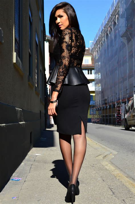 in high heels and pencil skirts images