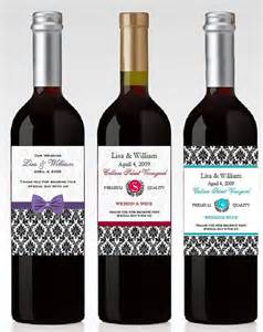 personalized damask wine bottle labels favors by shadow090109