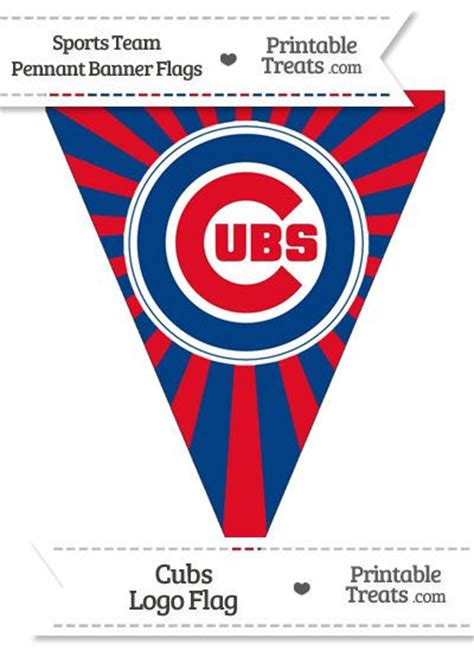 chicago cubs flags sports flags and pennants chicago cubs pennant banner flag from printabletreats com