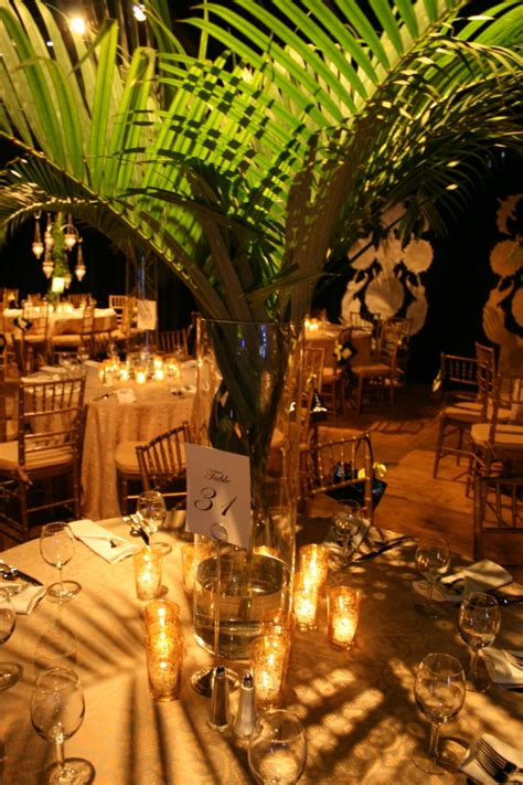 Decorating Ideas Using Palm Fronds Non Floral Centerpieces For Your South Florida Wedding