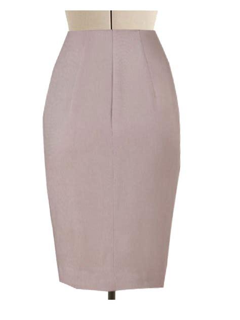 beige pencil skirt custom handmade fully lined wide