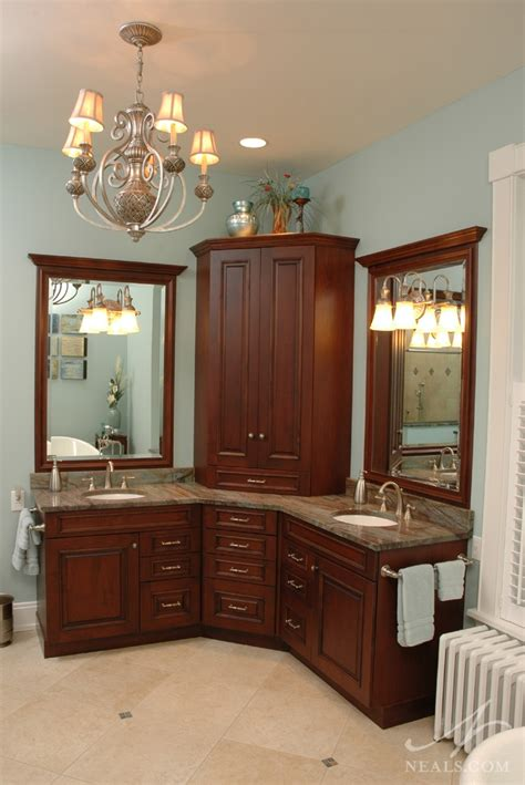 corner bathroom vanity ideas space efficient corner bathroom cabinet for your small lavatory ideas 4 homes