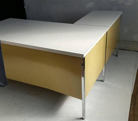 classic mid century metal l shape desk made by designcraft