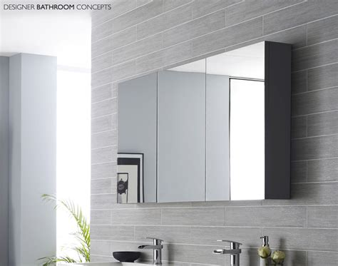 Quartet Designer Large Mirrored Bathroom Cabinet 2 Colours Large Bathroom Cabinets With Mirror