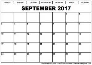 september 2017 calendar printable template pdf holidays