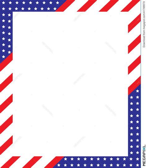 American Patriotic Wallpaper Border