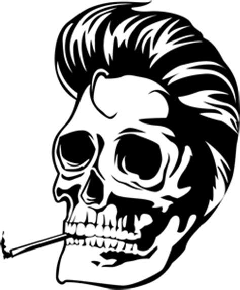 somking skull logo vector ai free download