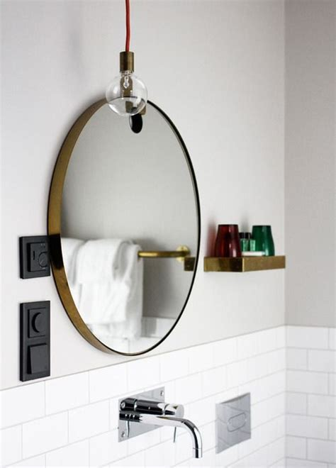 circle bathroom mirror bathroom round mirror bathroom inspiration pinterest
