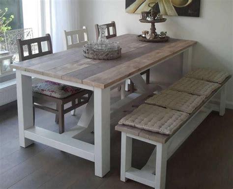 bench esszimmertisch set steigerhouten tafels leverbaar in alle afmetingen en in