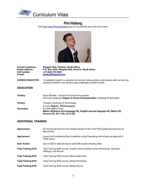 resume template curriculum vitae exle intended for 89 fascinating exles of eps zp