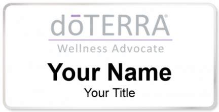 Doterra Wellness Advocate Name Tags Namebadge Com Doterra Website Template