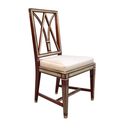 a fine neoclassical mahogany bench karl kemp antiques fine set of four neoclasical side chairs karl kemp antiques