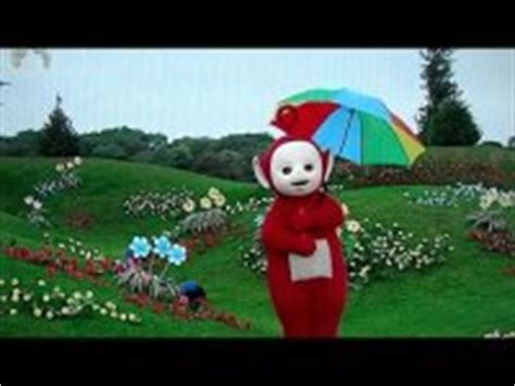 teletubbies a tree appears in teletubbies po voice trumpet an umbrella magically appears