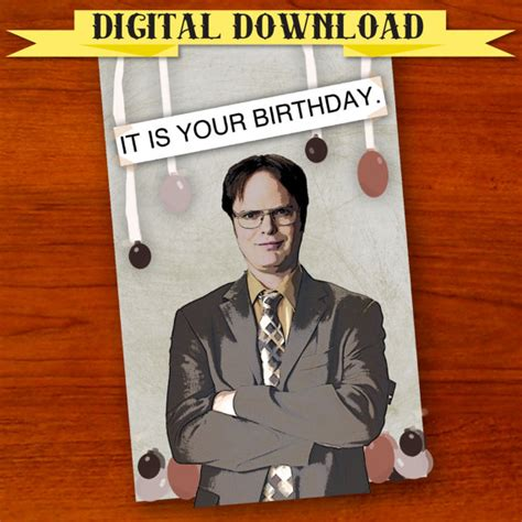 the office cards dwight schrute the office birthday card digital