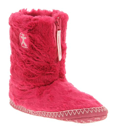 bedroom slipper boots womens bedroom athletics marilyn iii slipper boot pink