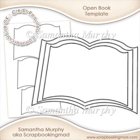 Open Book Template For Card by Open Book Template Commercial Use Ok 163 3 50 Instant