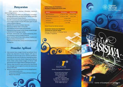 desain brosur video contoh desain leaflet brosur dan poster according blog