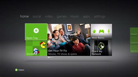 the xbox dashboard sports a metro styled ui from the start