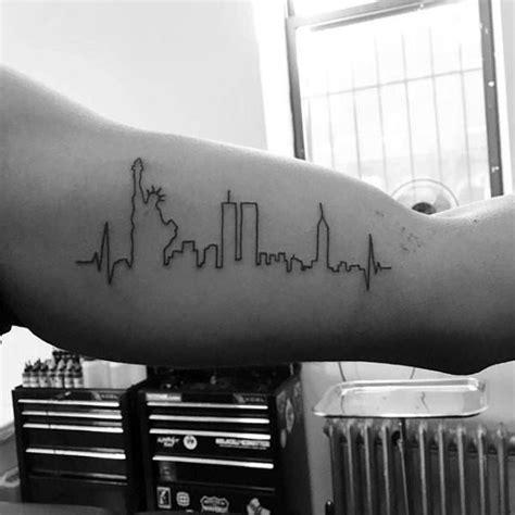 ny skyline tattoo new york skyline minimalist guys bicep