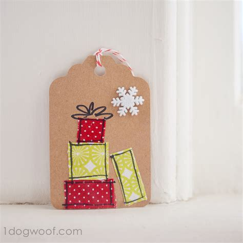 Handmade Gift Tags Ideas - gift tags day 11 scrap fabric gift tags one