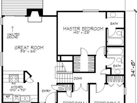 one storey residential floor plan modern one story floor plans mexzhouse