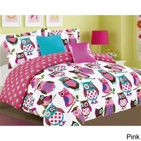 owl comforter set twin yukon night owls microfiber 5 piece comforter set night
