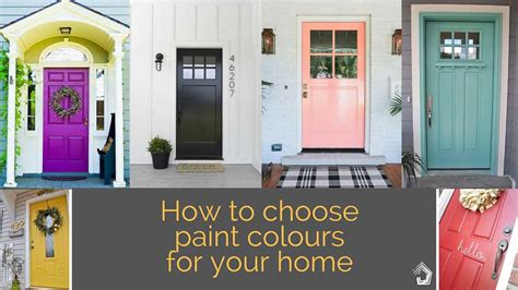 how to choose paint 5 tips to get it right when choosing the external colour scheme for your home
