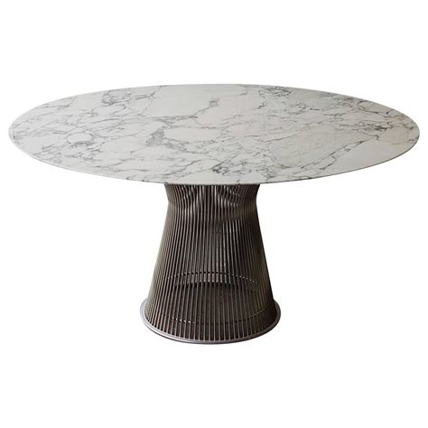 Warren Platner For Knoll Arabescato Marble Top Dining