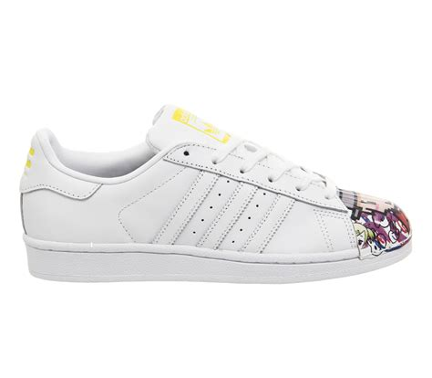 Adidas Superstar Motif 1 cheap adidas shoes factory outlet womens adidas superstar 1 trainers mr white mono